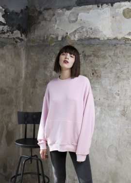 [PINBLACK]soft coccon sweat shirt pink