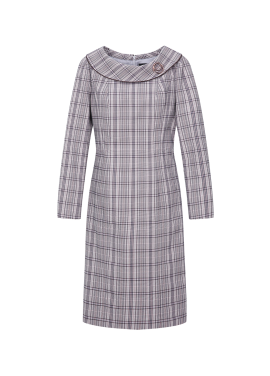 Check Pattern Slim Line Dress