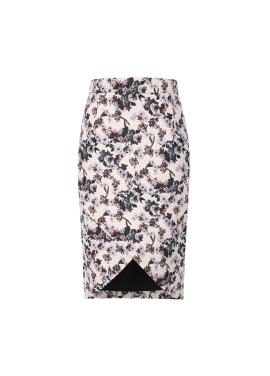 Flower Patterned Slit Skirt [손여은 착용]