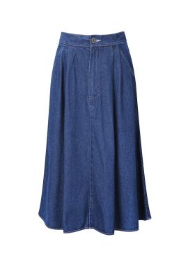 ★ Flare Denim Long Skirt