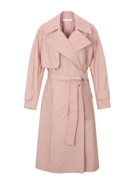 Snap Button Point Trench Coat