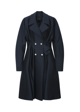 Balloon Peal Point Trench Coat