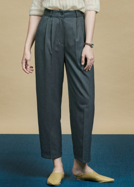 [URAGO]herringbone button wide pants
