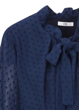 ◆ Dot Patterned Tie Dress