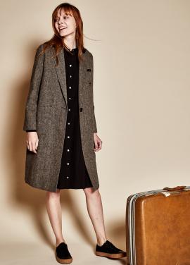 Long wool coat_brown