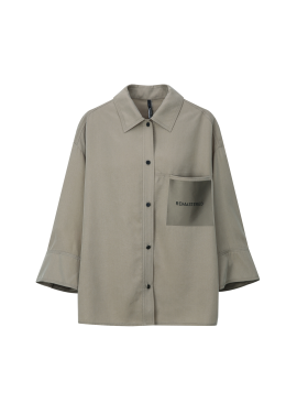 Colorblock Point Jacket Style Blouse