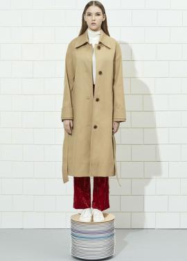 [주문폭주] Single Button Long Trench Coat [김성은 착용]