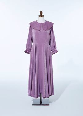 [AMELIE/5%SALE] PURPLE CHAMPAGNE DRESS