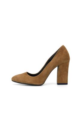 Suede Pumps Heel Shoes