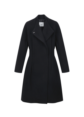 ◆ Wool Blend Banding <br>Long Coat