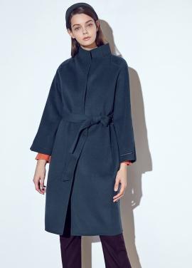 ◆ Handmade High Neck Sleeve Slit Long Coat