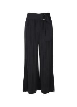 Knit Pleats Wide Pants