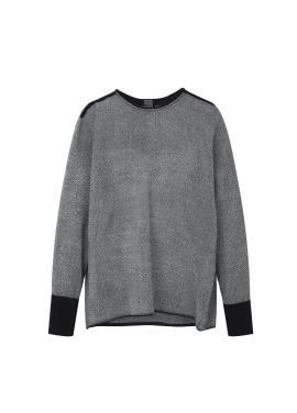 Wool Sleeve Banding Blouse