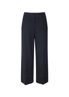 Hemline Sitch Detail Wide Pants
