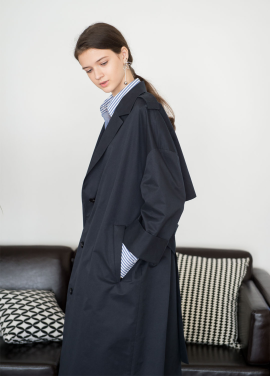 [NOCOCHIC]OVER_STRIGHT TRENCH COAT [NY]