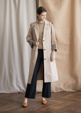 [NOCOCHIC/30%SALE] OVER_STRIGHT TRENCH COAT