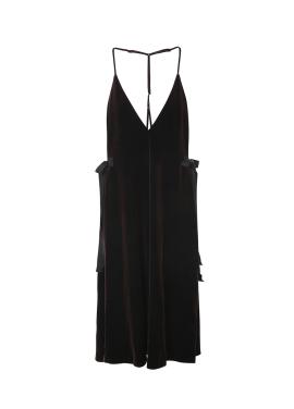Velvet Taping Slip Dress