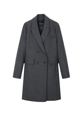 Wool Blend Double Button Half Coat