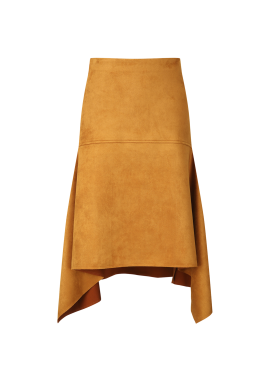 Unbalance Suede Skirt
