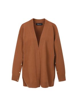 Cashmere Blend Sleeve Button Cardigan