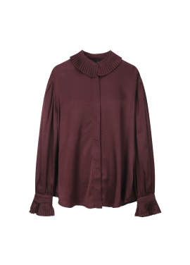 Ruffle Detail Loose-Fit Blouse
