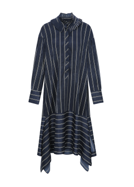 Unbalance Stripe Long Dress