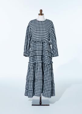 [NEW/AMELIE] BLACK GINGHAM KANGKANG DRESS