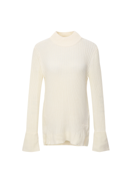 Half Neck Sleeve Point Pullover