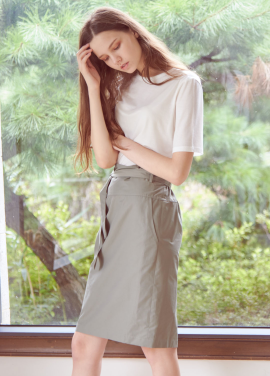 [THEROOM]HIGHWAIST BANDING SKIRT[KHAKI]
