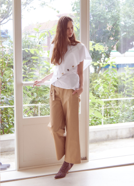 [THEROOM]HIGHWAIST BANDING PANTS[BEIGE]
