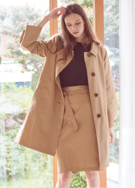 [THEROOM]HALF MAC COAT[BEIGE]