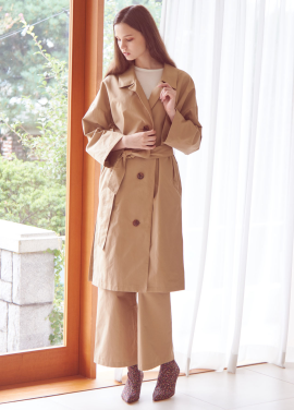 [THEROOM]BEITED MAC COAT[BEIGE]