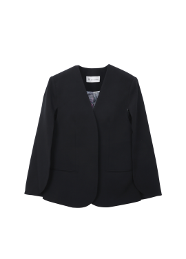 ♠ Collarless Wide Sleeve <br>Jacket