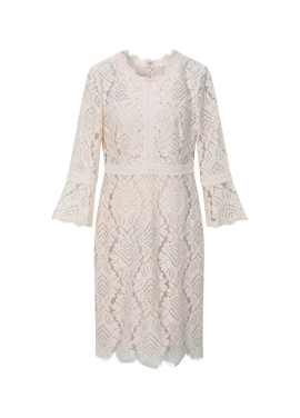 ♠ Bell Sleeve Lace H-Line Dress