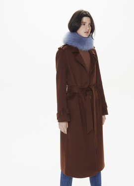 [THESUIN /FW 기간한정 20%세일]Handmade Alpaca Trench Coat. Terracotta Brown