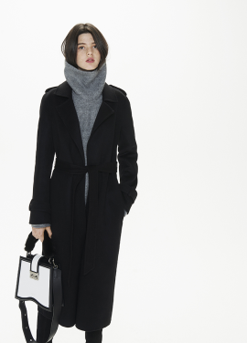 [THESUIN /FW 기간한정 20%세일]Handmade Alpaca Trench Coat. Black