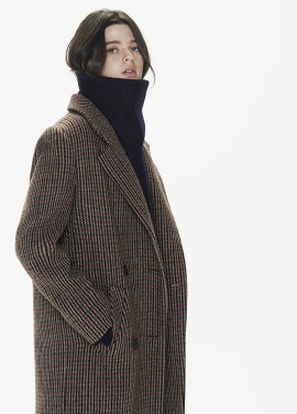[THESUIN /FW 기간한정 20%세일]Check Double Long Coat
