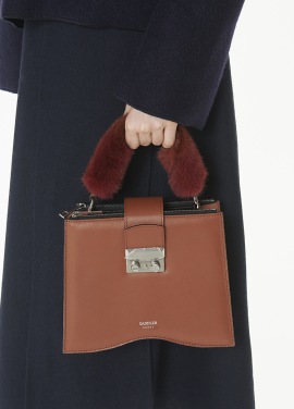 [THESUIN /FW 기간한정 20%세일]Mink Handle Wrap. Terracotta Brown