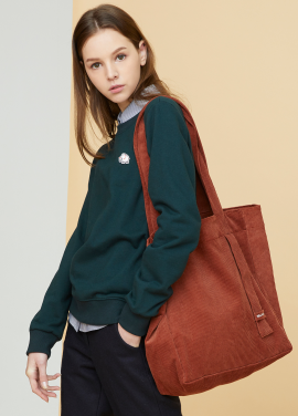 [MILLOGLEM/17FW신상/10%+5%COUPON] corduroy logo bag - orange