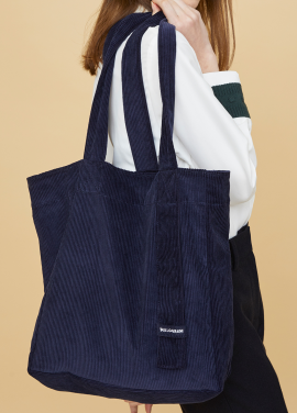 [MILLOGLEM/17FW신상/10%+5%COUPON] corduroy logo bag - navy