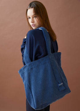 [MILLOGLEM/17FW신상/10%+5%COUPON] corduroy logo bag - blue