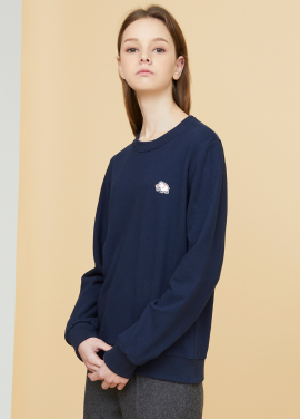 [MILLOGLEM/17FW신상/10%+5%COUPON] elephant patch sweatshirts - navy
