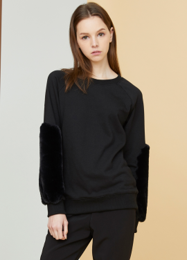 [MILLOGLEM/17FW신상/10%+5%COUPON] barni sweatshirts - black