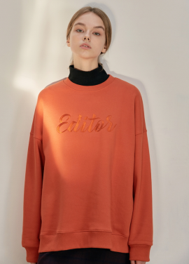 [ANEDIT/17FW/5%+5%COUPON]B EDITOR SWEAT_OR