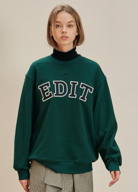 [ANEDIT/17FW/5%+5%COUPON]B APPLIQUE SWEAT_DG