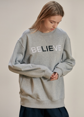 [ANEDIT/17FW/5%+5%COUPON]B BELIEVE SWEAT_GY