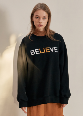 [ANEDIT/17FW/5%+5%COUPON]B BELIEVE SWEAT_BK