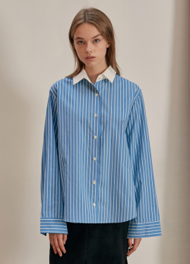 [ANEDIT/17FW/5%+5%COUPON]B CLERIC STRIPE SHIRTS_SB