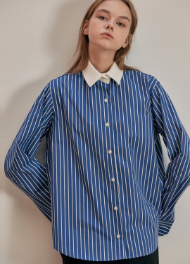 [ANEDIT/17FW/5%+5%COUPON]B CLERIC STRIPE SHIRTS_NV