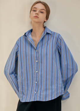 [ANEDIT/17FW/5%+5%COUPON]B STRIPE SHIRTS_SB